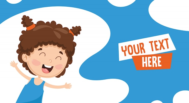 Happy childrenvector ilustração de crianças felizes