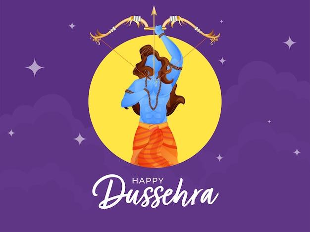 Happy dussehra concept