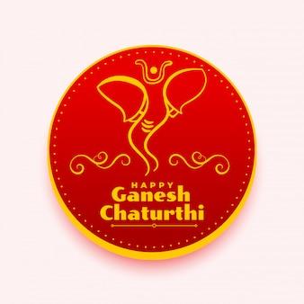 Happy ganesh chaturthi deseja design criativo de cartão