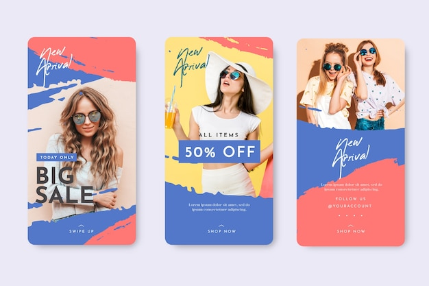 Happy girls instagram stories template sales