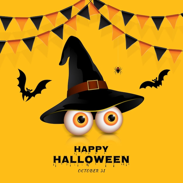 Happy halloween trick or treat olhos