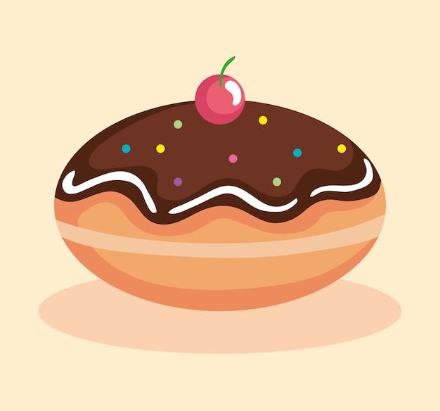 Happy hanukkah sufganiot design, feriado celebração judaísmo festival de religião tradicional e