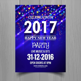Happy new ano de 2017 brochura