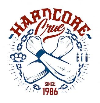 Hardcore emblem art