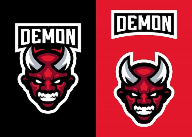 Head devil mascot logo para esportes e logotipo de esports