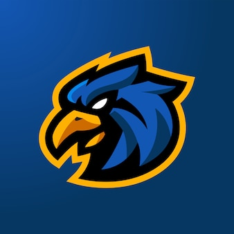 Head eagle esport logotipo