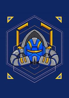 Head war machine esport logotipo