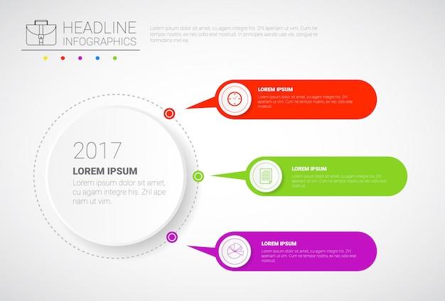 Headline infographic design negócios dados gráfico coleção apresentação cópia espaço