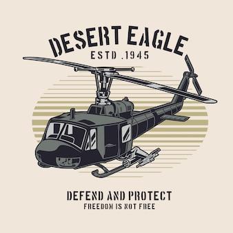 Helicóptero da águia do deserto
