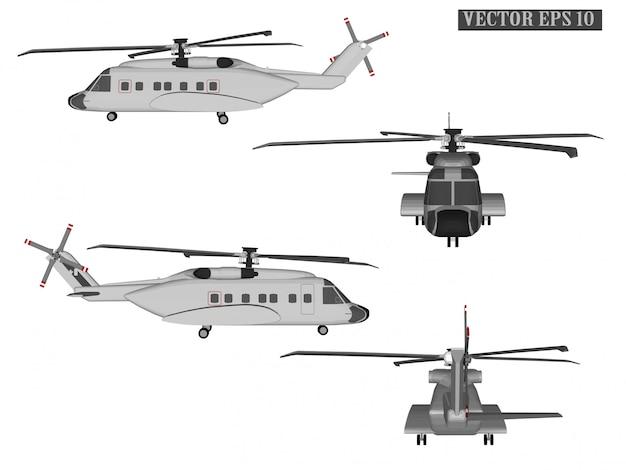 Helicóptero de vetor web para soldados