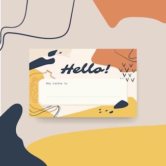 Hello label design