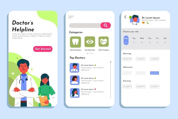 Helpline app de reserva médica do médico