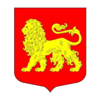 Heráldica ilustração em vetor desenhada à mão de leão para heráldica