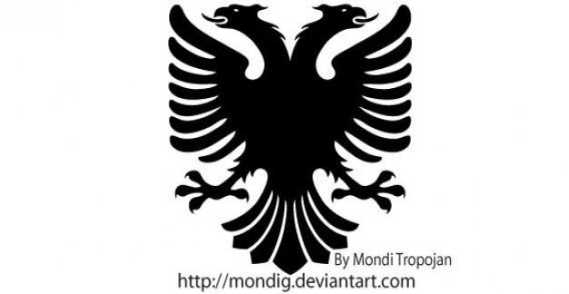 Heráldico eagle vector silhouettes