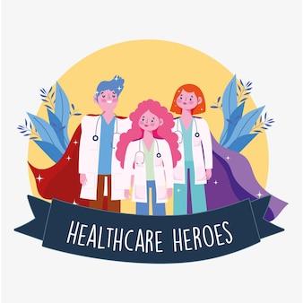 Heróis da equipe médica