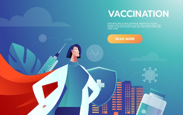 Heróis médicos líder lutando contra os sintomas do vírus corona.
