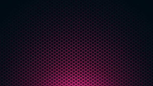 Hexágono abstrato com cor roxa