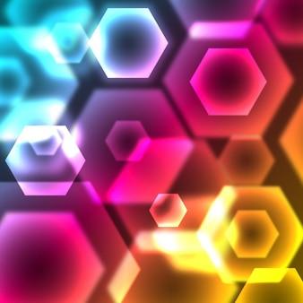 Hexágono colorido fundo geométrico