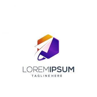Hexágono de design de logotipo
