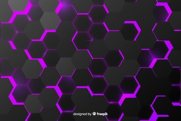 Hexágono de fundo abstrato textura preta