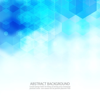 Hexágono de fundo de ciência abstrata geométrico. fundo azul