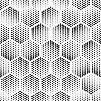 Hexágono de meio-tom molda padrão uniforme abstrato de tecnologia de fundo