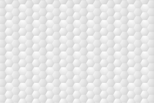 Hexágono em relevo, fundo branco do favo de mel