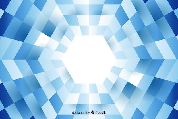 Hexágono formado por retângulos alinhados fundo