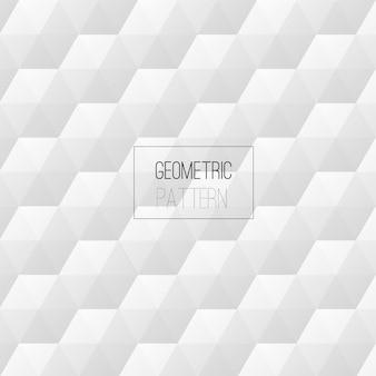 Hexágono geométrico padrão branco