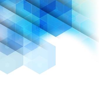 Hexágono transparente colorido abstrato