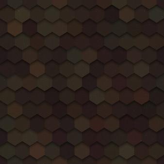Hexágonos 3d de tecnologia escuro sem costura padrão