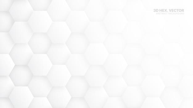 Hexágonos 3d padrão abstrato branco