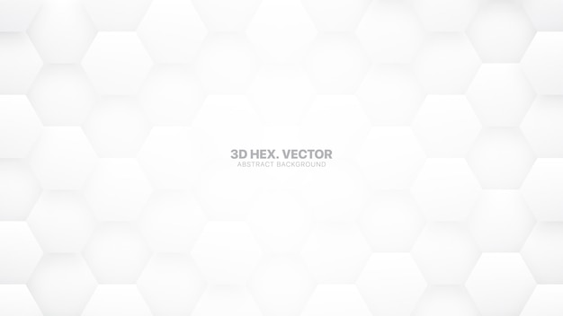 Hexágonos 3d tecnológicos fundo abstrato branco