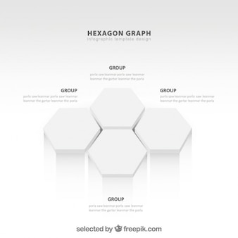 Hexágonos gráfico