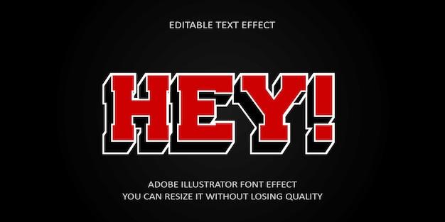 Hey efeito de texto editável
