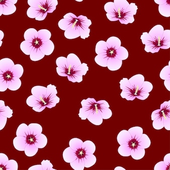 Hibisco syriacus - rosa de sharon em fundo vermelho índigo