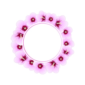 Hibiscus syriacus rose de sharon banner grinalda