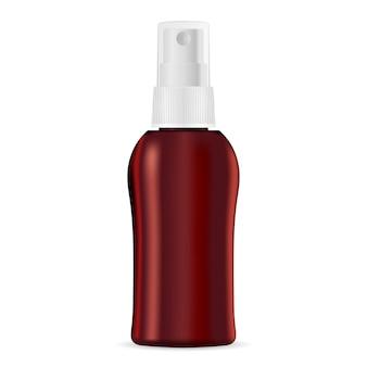 Hidratante spray cosmético garrafa simulado acima.
