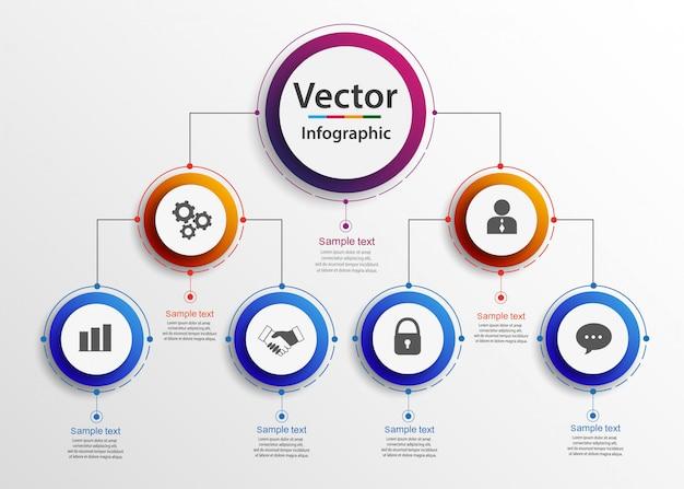 Hierarquia de negócios organograma gráfico infográficos.