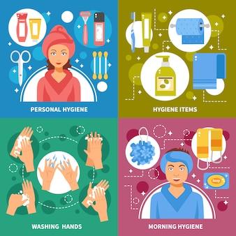 Higiene conceito fundo quadrado
