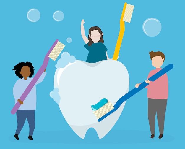 Higiene dentária e cuidados de saúde
