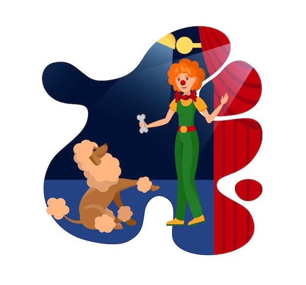 Hilário jester e poodle cor ilustração