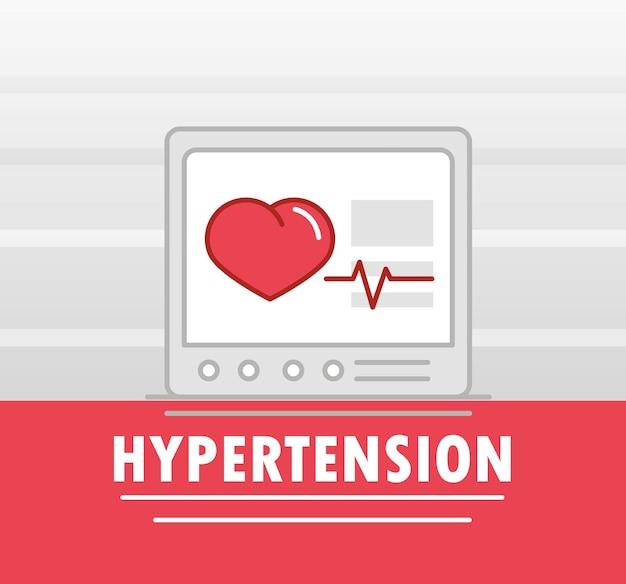 Hipertensão monitorando batimentos cardíacos
