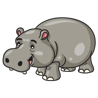 Hipopótamo bonito dos desenhos animados