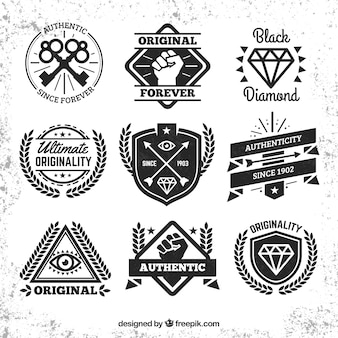 Hipster emblemas coleção