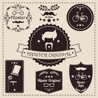 Hipster etiqueta a coleção