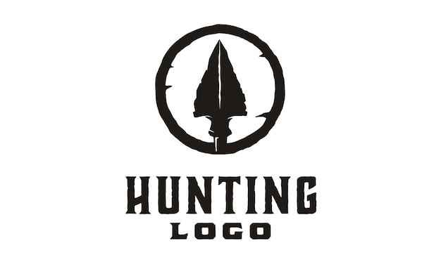 Hipster / retro caça logo design