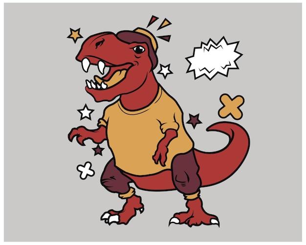 Hipster t-rex