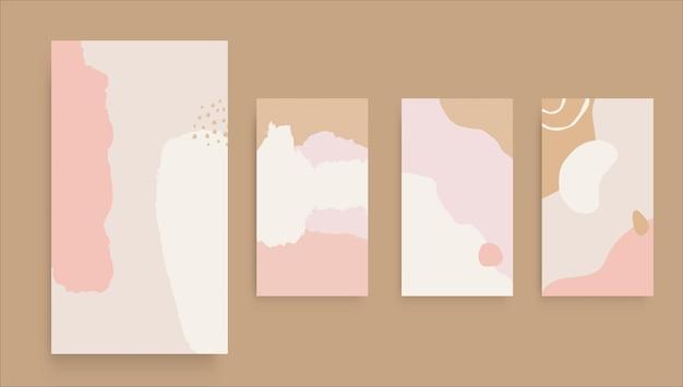 História abstrata do instagram da arte com fundo rosa