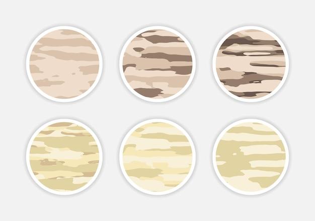 História de capa abstrata de camuflagem instagram